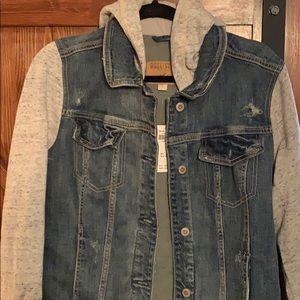 Hollister Jean jacket with hoodie